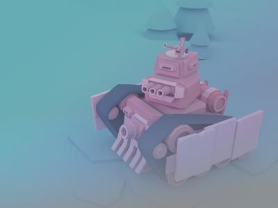Tiny Tank tank tiny concept illustration 3d