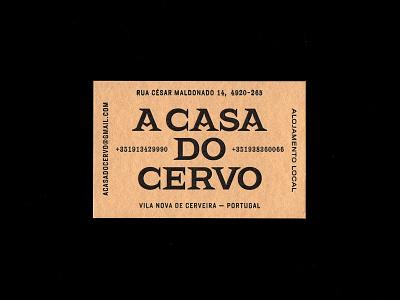 A Casa Do Cervo hugomoura tipografia design gráfico letters letterpress typemystyle scriptease skillsmadeofdouro lettering logotype logo identity typography type graphic design visual identity xestastudio xestaone xesta