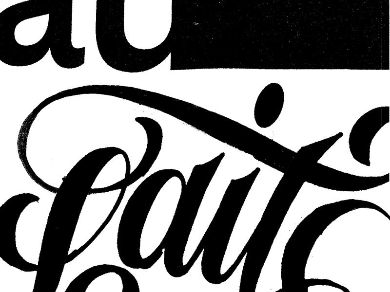 Café Au Lait - Sketches xestastudio xestaone xesta typography typemystyle type skillsmadeofdouro logo lettering illustration calligraphy calligraffiti