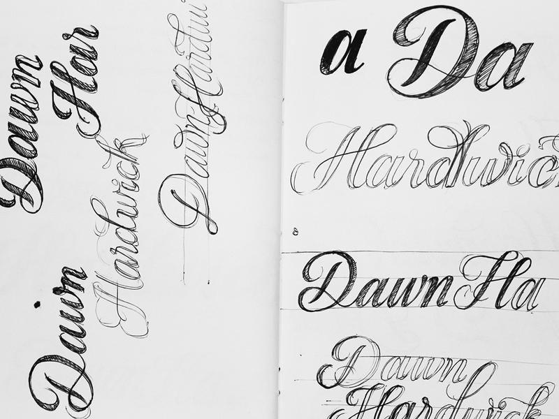 Dawn Hardwick - Sketches xestastudio xestaone xesta typography typemystyle type skillsmadeofdouro logo lettering illustration calligraphy calligraffiti