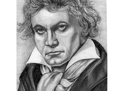 Beethoven Pencil Portrait