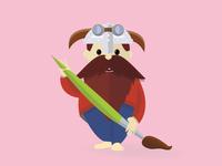 Dwarf painter