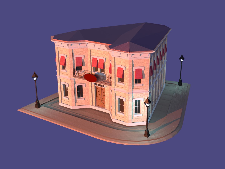 3D building building blender 3d