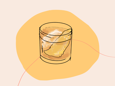 Whiskey Cocktail Illustration procreate sketch line art rum whiskey cocktail party cocktail texture hand drawn illustration
