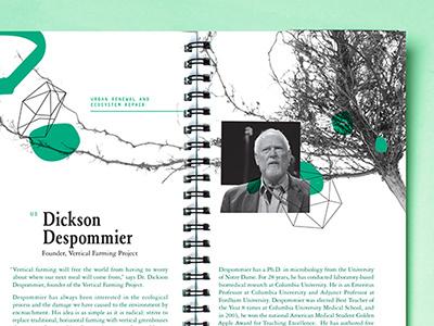 PINC.Sarasota black and white conference garamond monochromatic nature artsy brochure green booklet
