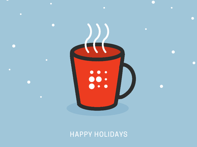 Holiday Mug hot chocolate minimal vector mug winter cold snow coffee holidays