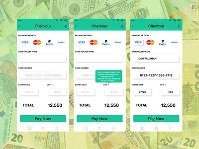 credit card checkout webdesign uiux dribbble figma design illustration checkout day002 dailyui ui