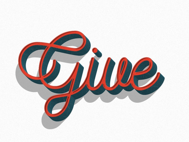 Give holidays give typography christmas