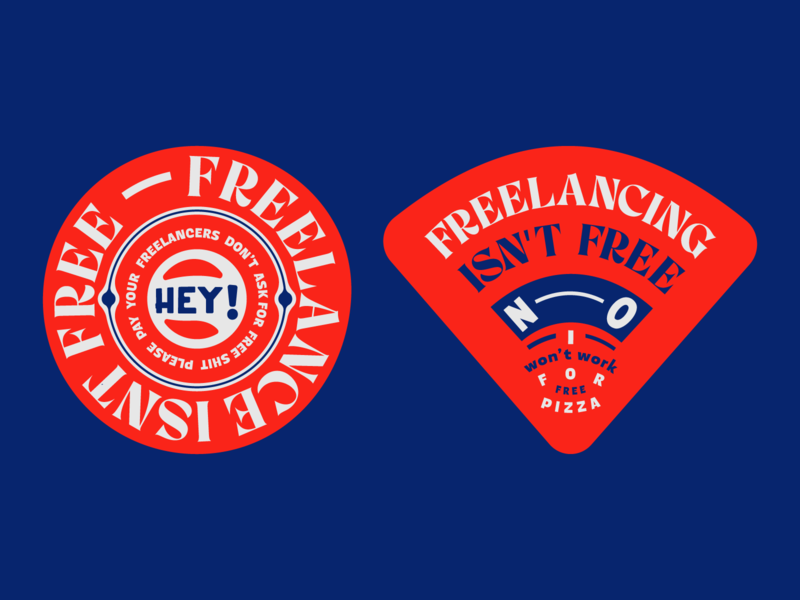 Freelancing Badges pin vector freelancer logotype badges lockup design typogaphy