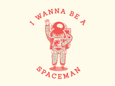 Spaceman vintage old space art timpeak space color adobe vector art icon branding badge design logo texture illustration