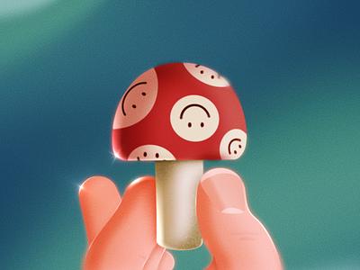 Little Mushroom mushroom illustration design 2d animation after effects