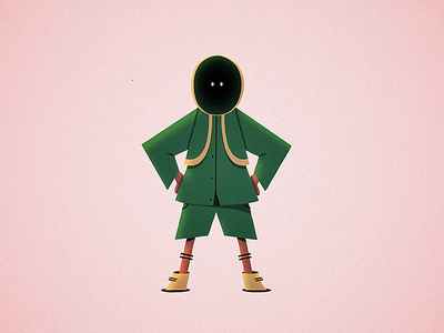 Doler 🌿 game hoodie flies motion design walk cycle illustration limber character 2d animation after effects