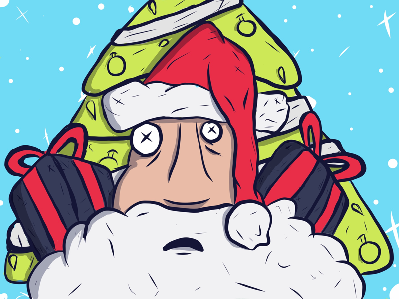 Her sees you when your sleeping 👥 santa sketh colorful colors ipadpro character christmas illustration