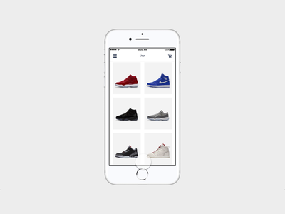 J's on my feet sketch invision style prototype fashion store iphone apple dribbble invision studio ios nike jordan