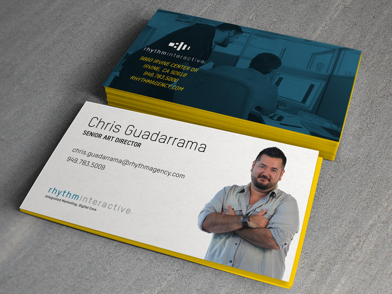 Rhythm Business Cards business card cards print business edge painting