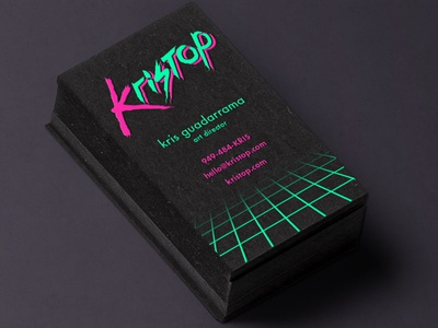 Kristop Business Card Design 1 Sided