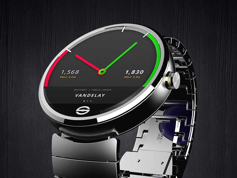 AFL SuperCoach Wear Concept android android wear fantasy sports afl supercoach watch wearable