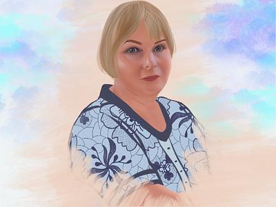 Digital portrait cartoon portrait illustration digital art digital design