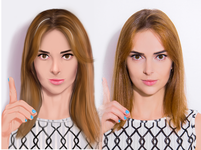 Digital portrait vector ui logo cartoon branding portrait illustration digital art digital design