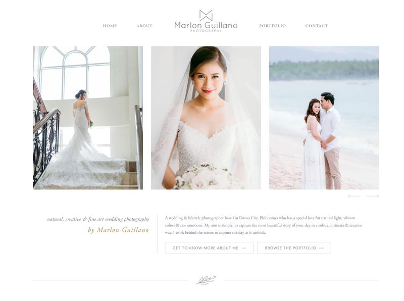 Marlon Guillano Photography [design & code] wedding photographer website portfolio photography minimalist design interaction design code custom website