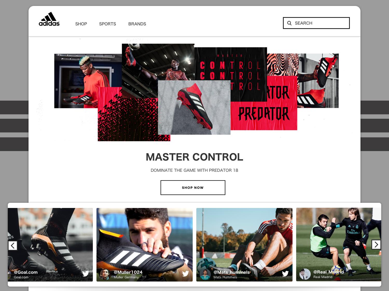 reputable site accb9 6a222 Eventifier Widget for Adidas website