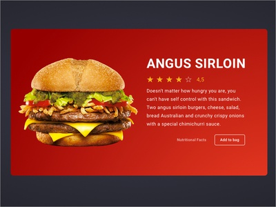 Product card [Burger] Day 3 buy bag rate stars meat cheese clean sell card product hamburger burger