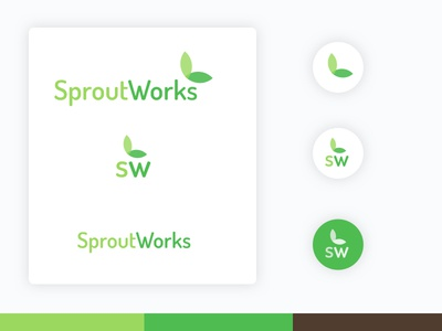 Sprout vegetables green system gui logo user interface