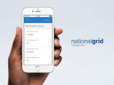 National Grid NGage Gas Calculator