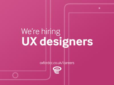 We're hiring UX designers!