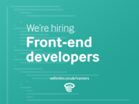 We're hiring Front-end developers!