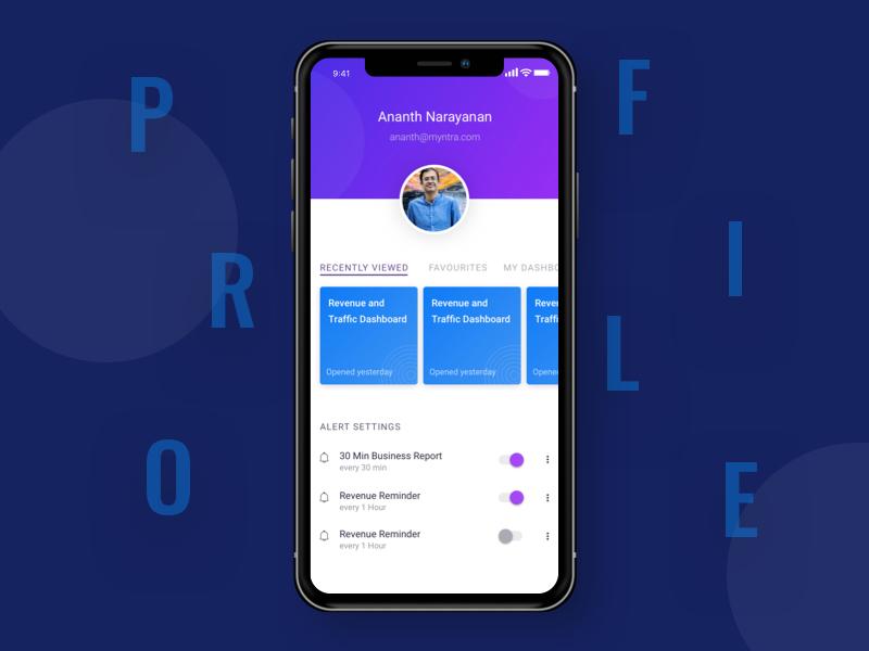 User Profile minimal preferences settings carousel dashoard userprofile profile app ux
