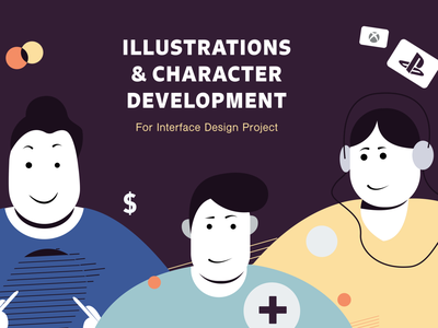 Character Design for Gifts & Cards Store ui character illustraion
