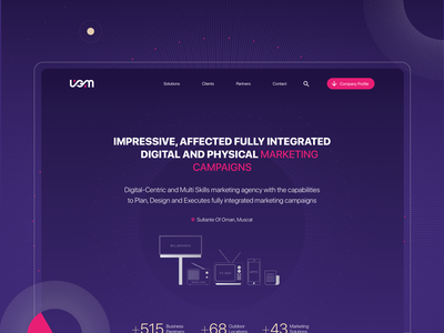 UGM — Corporate Site brand web-design ui
