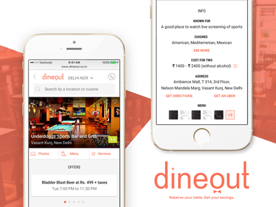 dineout - Restaurant Description Page #3 description food android ios booking table reservations events restaurants dinning mobile msite