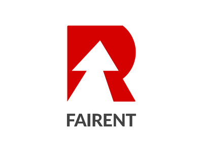 Fairent Branding monogram f r thunder growth arrow lato renting appliances furniture branding logo