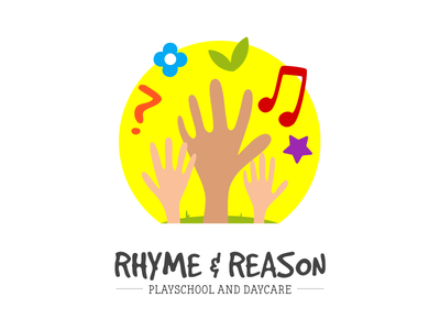 Rhyme & Reason - Branding rhyme reason hands sun kindergarten daycare playschool children branding logo