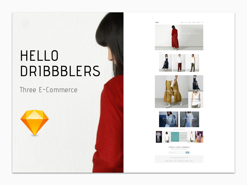 Three E-Commerce Sketch Freebie