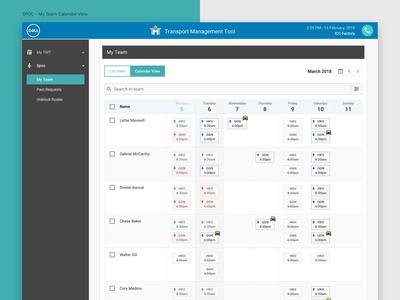 Dell TMT - My Team Calendar View