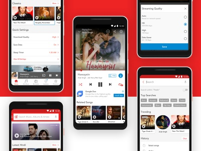 Wynk Music - Home, Player, Search play redesign sound wynk music ui app streaming clean player music gaana spotify airtel