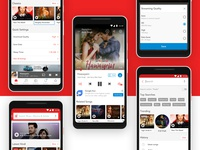 Wynk Music - Home, Player, Search