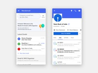 Wondermail - SMS & Email Organiser Application organiser latest ui list ui illustration statement email app sms design mobile app app flat clean
