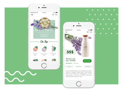 Cosmetic Eco Shop - mobile app mobile user friendly plants natural app store green organic cosmetic shop eco