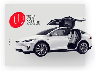 Tesla Ukraine brand ux ui mobile app innovation drive car ukraine new electricity tesla