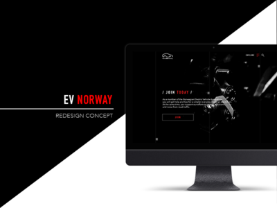 EV Norway - redesign concept redesign style electric car animation geometry black website eco car tesla
