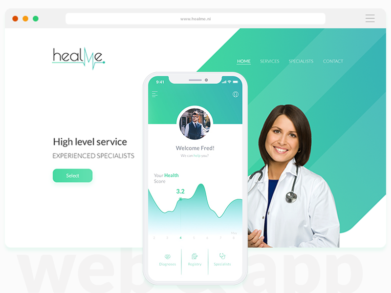 HealthMe ehealth doctor medical ux ui platform communication healthcare telemedicine