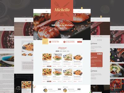 [FREE PSD] Michello - Restaurant WordPress Theme for WooCommerce