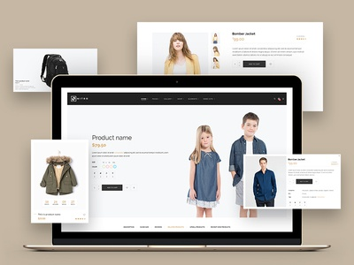 Designing the eCommerce website. Product Pages.