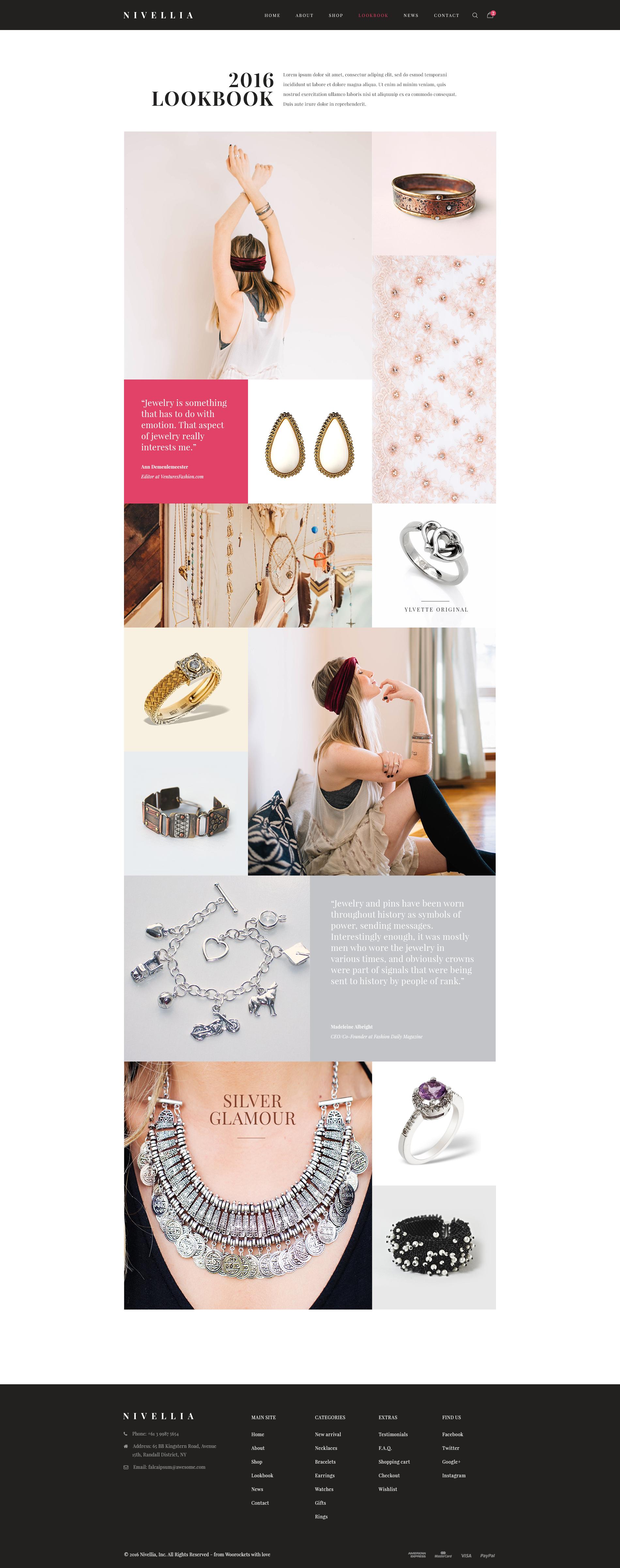 Nitro theme jewelry lookbook
