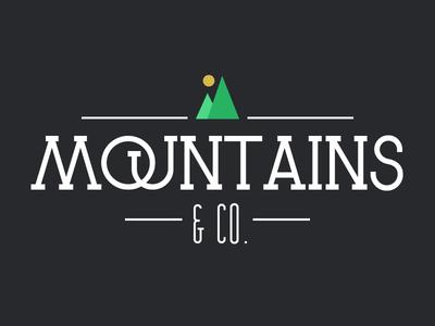 Mountains&Co. mountains logo psd photoshop image flat typography