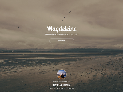 Magdeleine - Landing page photos photography free